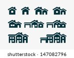 Vector Various House Icon Set.