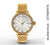 golden watch isolated on a... | Shutterstock . vector #147084476