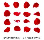 Red Rose Petals Isolated On...
