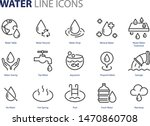 set of water icons  natural ... | Shutterstock .eps vector #1470860708