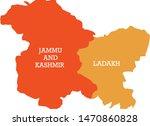 jammu kashmir ladakh map  ... | Shutterstock .eps vector #1470860828