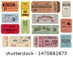 retro tickets. vintage cinema... | Shutterstock .eps vector #1470882875