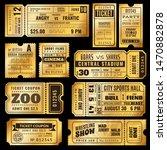 golden tickets. old gold... | Shutterstock .eps vector #1470882878