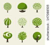 tree. collection of design... | Shutterstock .eps vector #147088505