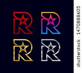 letter r logotypes with star...   Shutterstock .eps vector #1470888605