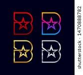 letter b logotypes with star...   Shutterstock .eps vector #1470888782