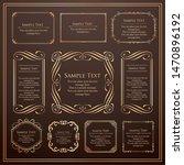 royal monogram frame. hand... | Shutterstock .eps vector #1470896192
