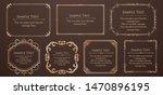 royal monogram frame. hand... | Shutterstock .eps vector #1470896195