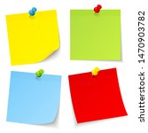 set of four colorful sticky... | Shutterstock .eps vector #1470903782