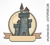 color retro round castle logo... | Shutterstock . vector #1470908138