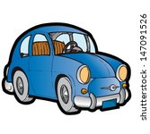 vector illustration of small car | Shutterstock .eps vector #147091526