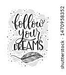 isolated calligraphic hand... | Shutterstock .eps vector #1470958352