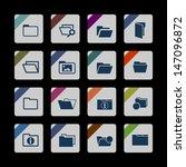 folder icons | Shutterstock .eps vector #147096872