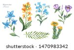 watercolor vintage floral...   Shutterstock . vector #1470983342