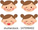 girl emotion | Shutterstock .eps vector #147098402