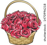 Flower Basket Floral Bucket...