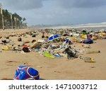 Pollution Of A Popular Beach I...