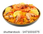 Bowl Of Fresh Seafood Paella...