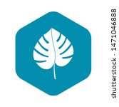 leaf of monstera icon. simple... | Shutterstock . vector #1471046888