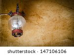 old chinese lamp on grunge wall | Shutterstock . vector #147106106