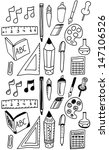 hand drawn back to school... | Shutterstock .eps vector #147106526