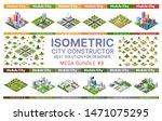 isometric set of blocks module...   Shutterstock .eps vector #1471075295