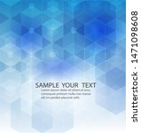 abstract modern geometric blue... | Shutterstock .eps vector #1471098608