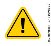 vector hazard warning symbol... | Shutterstock .eps vector #1471098932