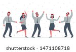 office workers are celebrating... | Shutterstock . vector #1471108718