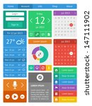 ui  infographics and web... | Shutterstock .eps vector #147111902
