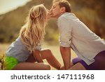 young beautiful couple are... | Shutterstock . vector #147111968