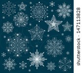 snowflakes set background vector | Shutterstock .eps vector #147113828