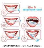 instruction on how to brush... | Shutterstock .eps vector #1471159508