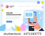 email envelope post on...   Shutterstock .eps vector #1471183775
