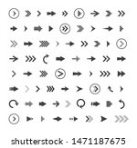 arrows icon drawing element.... | Shutterstock .eps vector #1471187675