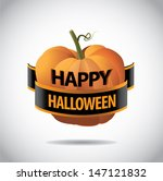 happy halloween greeting card... | Shutterstock .eps vector #147121832