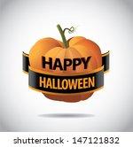 happy halloween greeting card...   Shutterstock .eps vector #147121832