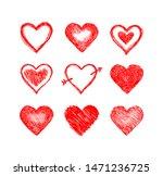 hand drawn hearts. design... | Shutterstock .eps vector #1471236725