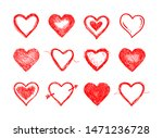 hand drawn hearts. design... | Shutterstock .eps vector #1471236728