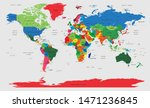 complete world map with all... | Shutterstock .eps vector #1471236845