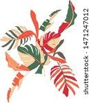 foliage vector artsy bold style ...   Shutterstock .eps vector #1471247012