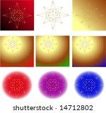 gold star backgrounds  vector... | Shutterstock .eps vector #14712802