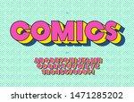 comisc font 3d bold style... | Shutterstock .eps vector #1471285202