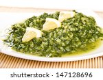 spinach and rice side dish | Shutterstock . vector #147128696