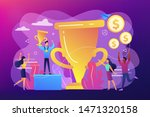 competition winner holding... | Shutterstock .eps vector #1471320158