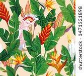 exotic bird ara parrot tropical ... | Shutterstock . vector #1471321898