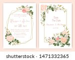 wedding invitation card floral... | Shutterstock .eps vector #1471332365