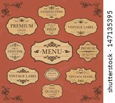 vintage label style collection  ... | Shutterstock .eps vector #147135395