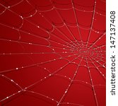 vector drawing of a spider web... | Shutterstock .eps vector #147137408