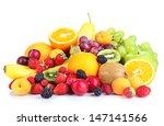fresh fruits and berries... | Shutterstock . vector #147141566